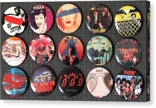 Led Zepplin Canvas Print - 80s Music Rock Pins by Jt PhotoDesign
