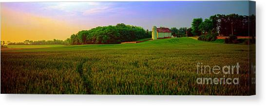 Conley Road, Spring, Field, Barn   Canvas Print