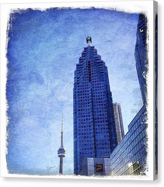 Toronto Skyline Canvas Print - Instagram Photo by Melissa Mariani
