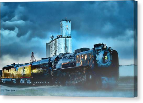 844 Night Train Canvas Print