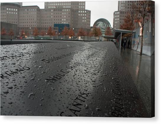 8488 911 Memorial View Canvas Print by Deidre Elzer-Lento