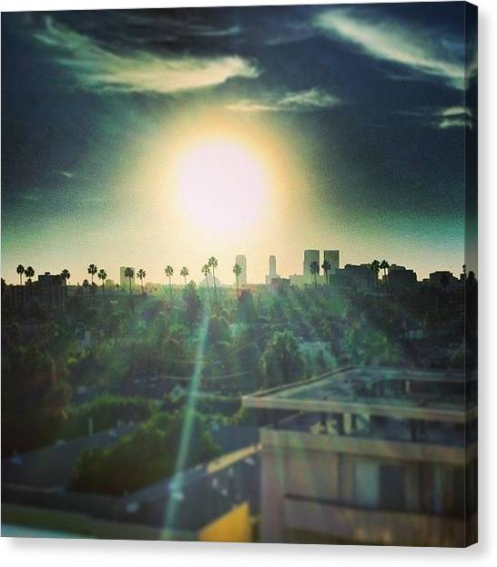 Palm Trees Sunsets Canvas Print - #85 #degrees #beverlyhills #bh by Thewinery Wine