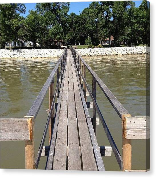 Manitoba Canvas Print - Summer Pier by Laura Saydak