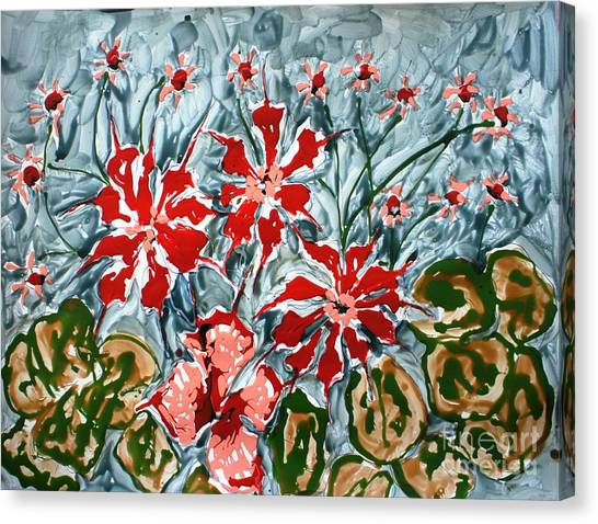 Mann Flowers Canvas Print by Baljit Chadha