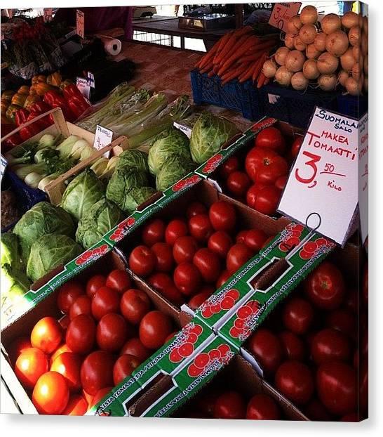 Lettuce Canvas Print - Market by Pamela Mildare