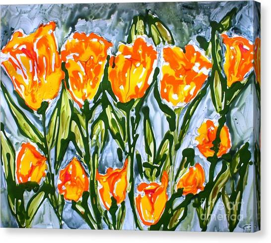Mann Flowers Canvas Print by Baljit Chadha