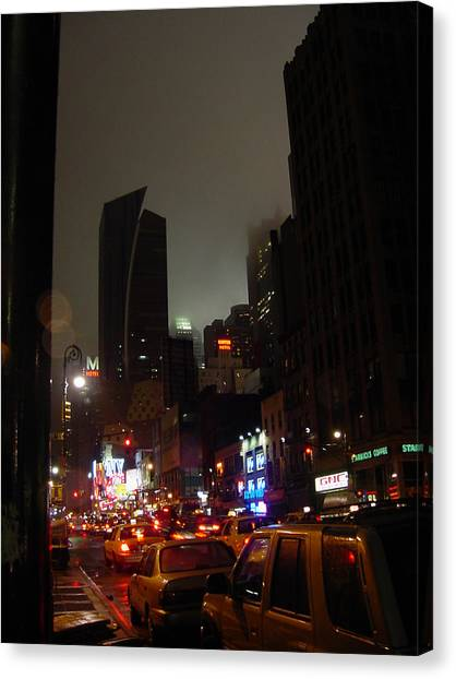 8th Ave Before New York Times Building Canvas Print