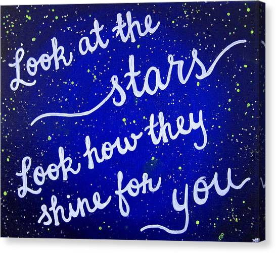 Coldplay Canvas Print - 8x10 Look At The Stars by Michelle Eshleman