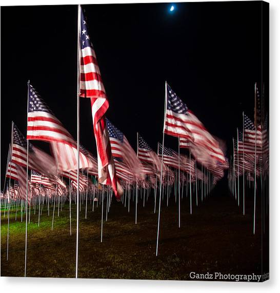9-11 Flags Canvas Print
