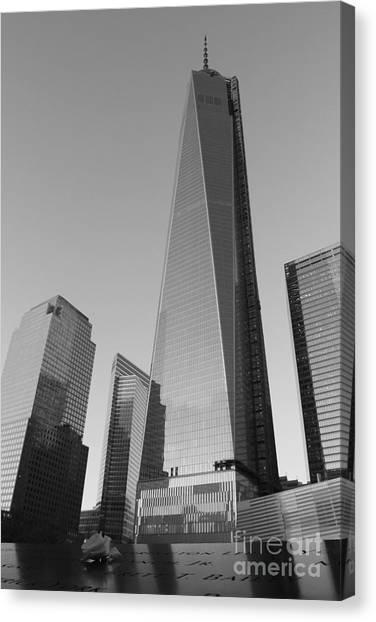 9/11 Memorial Canvas Print by Shiela  Mahaney