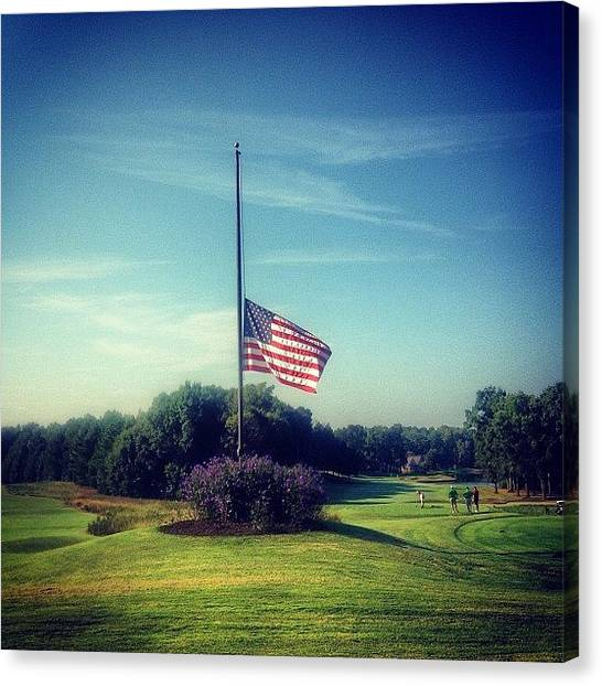 Golf Canvas Print - 9-11 Never Forget by Scott Pellegrin
