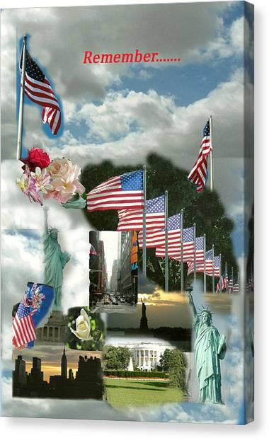 9-11 Remembrance Canvas Print