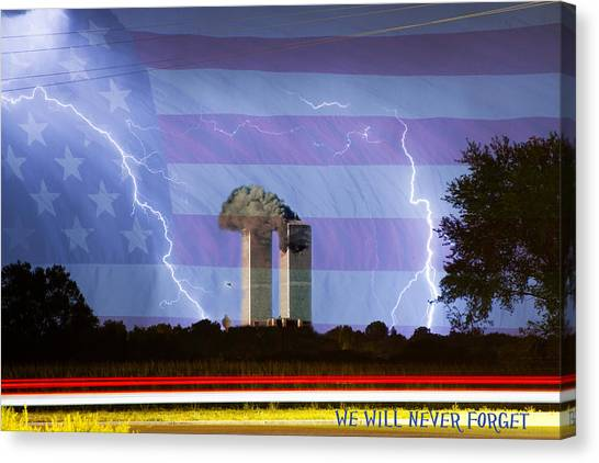 9-11 We Will Never Forget 2011 Poster Canvas Print