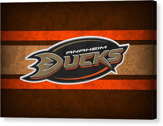 Anaheim Ducks Canvas Print - Anaheim Ducks by Joe Hamilton