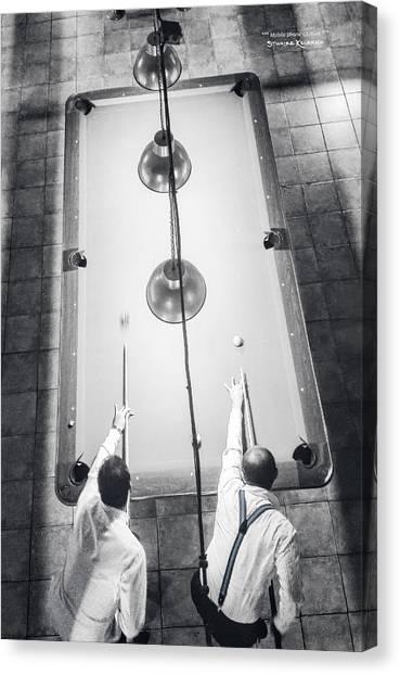 Canvas Print featuring the photograph 9 Ball Lag by Stwayne Keubrick