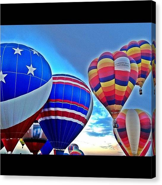 Balloons Canvas Print - #ballonfiesta #balloon #fiesta #park by Jared Campbell