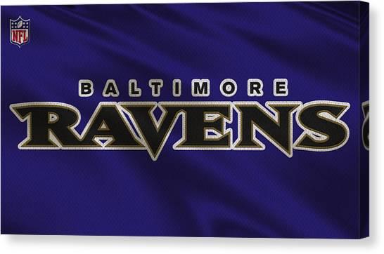 Baltimore Ravens Canvas Print - Baltimore Ravens Uniform by Joe Hamilton