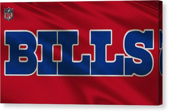 Buffalo Bills Canvas Print - Buffalo Bills Uniform by Joe Hamilton