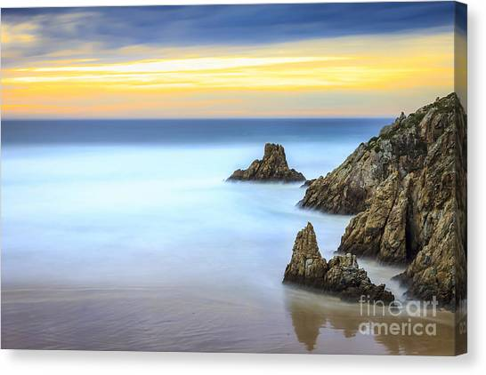 Campelo Beach Galicia Spain Canvas Print