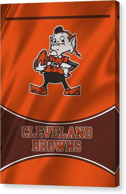 Cleveland Browns Canvas Print - Cleveland Browns Uniform by Joe Hamilton