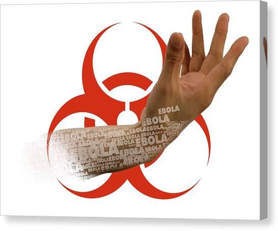 Biohazard Canvas Print - Ebola Epidemic by Victor Habbick Visions