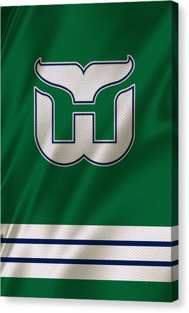 Ice Skating Canvas Print - Hartford Whalers by Joe Hamilton