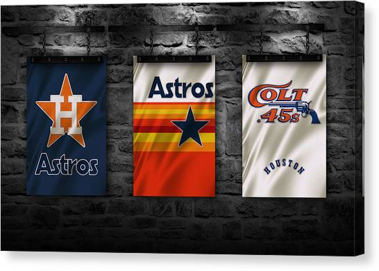 Houston Astros Canvas Print - Houston Astros by Joe Hamilton