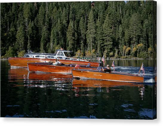 Lake Tahoe Wooden Boats Canvas Print by Steven Lapkin
