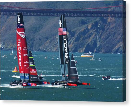 Kiwis Canvas Print - Last Race by David Davies