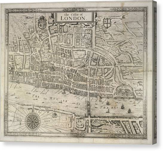 Tower Of London Canvas Print - London by British Library