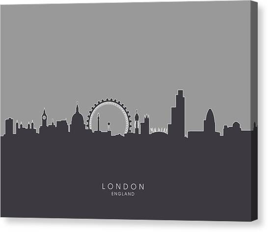 London Canvas Print - London England Skyline by Michael Tompsett