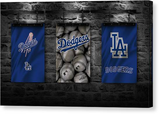 Los Angeles Dodgers Canvas Print - Los Angeles Dodgers by Joe Hamilton