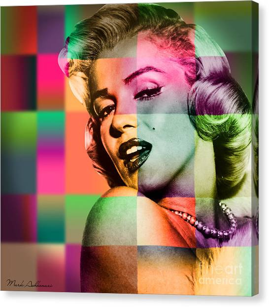 Marilyn Monroe Canvas Print - Marilyn Monroe by Mark Ashkenazi