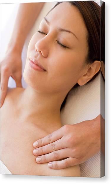 Massage Canvas Print by Ian Hooton/science Photo Library