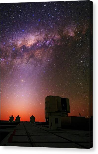 Atacama Desert Canvas Print - Milky Way Over The Atacama Desert by Babak Tafreshi