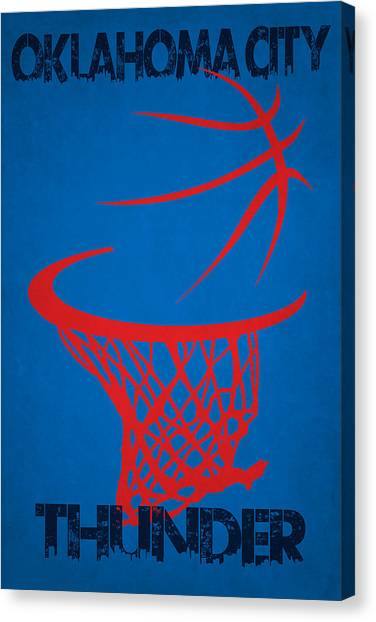 Oklahoma City Thunder Canvas Print - Oklahoma City Thunder by Joe Hamilton