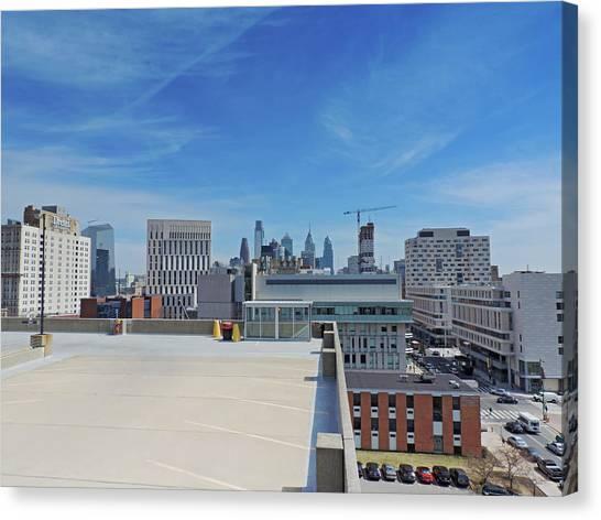 Liberty University Canvas Print - Philadelphia Skyline by Cityscape Photography