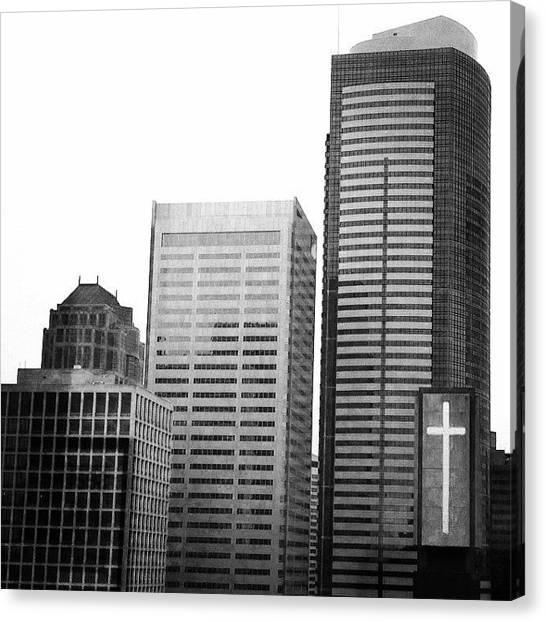 Seattle Skyline Canvas Print - #seattle #igers_seattle by Kelly Hasenoehrl