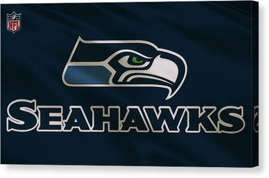 Seattle Seahawks Canvas Print - Seattle Seahawks Uniform by Joe Hamilton