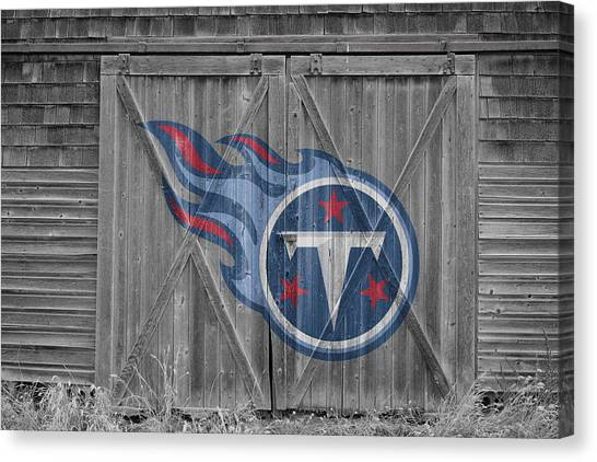 Tennessee Titans Canvas Print - Tennessee Titans by Joe Hamilton