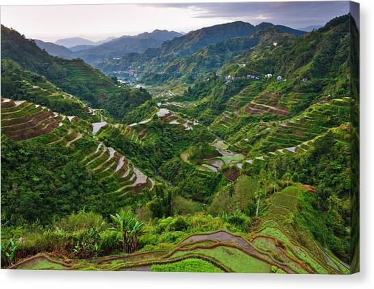 World Heritage Site Canvas Print - The Rice Terraces Of The Philippine by Keren Su