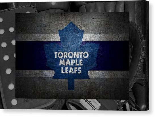 Skating Canvas Print - Toronto Maple Leafs by Joe Hamilton