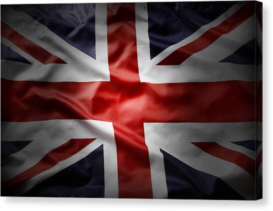 British Canvas Print - Union Jack  by Les Cunliffe