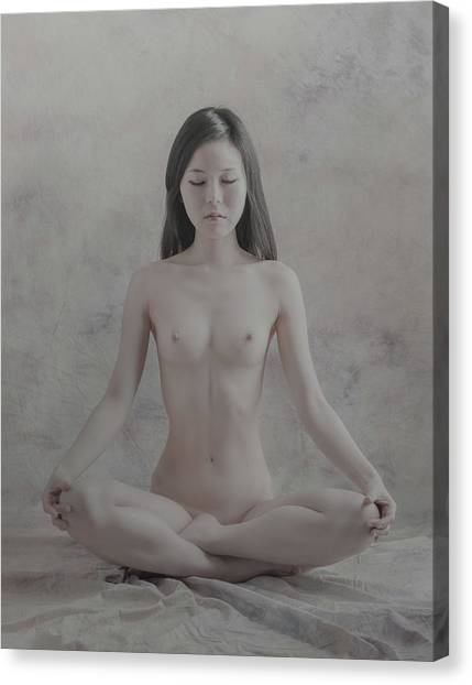 Meditation Canvas Print - Untitled by Nobuhiro Ishida