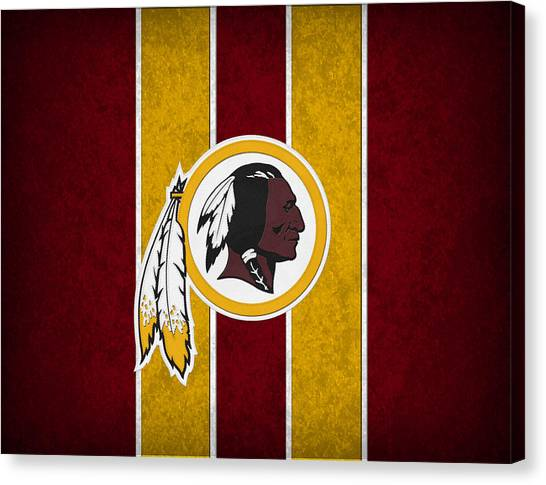 Nfl Canvas Print - Washington Redskins by Joe Hamilton