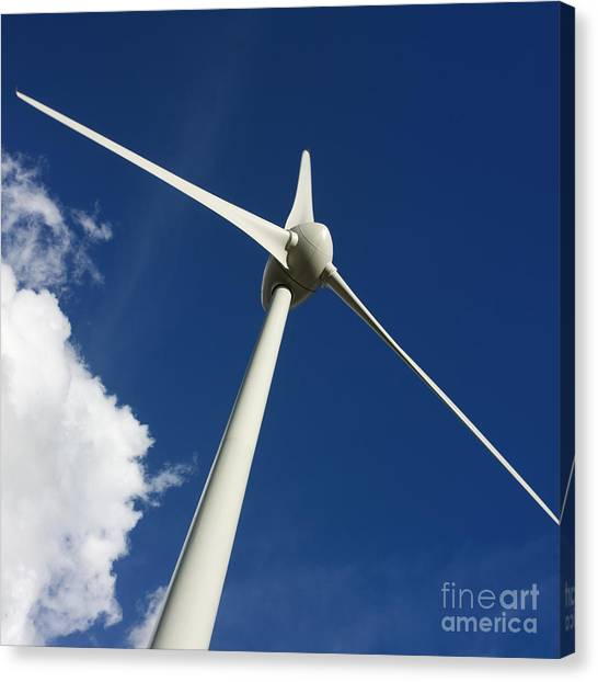 Clean Energy Canvas Print - Wind Turbine by Bernard Jaubert