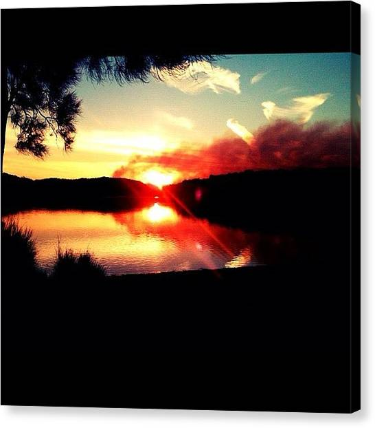 Lake Sunsets Canvas Print - #900 #photo #in #the #narrabeen by Harry Brown