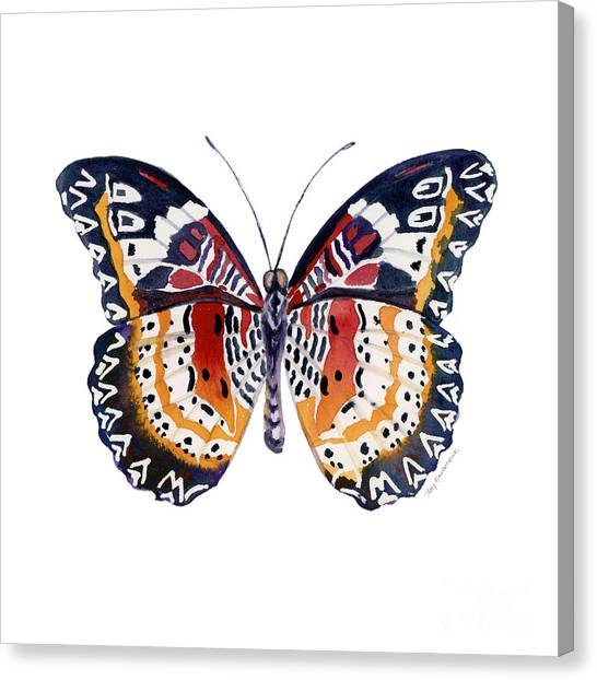 94 Lacewing Butterfly Canvas Print