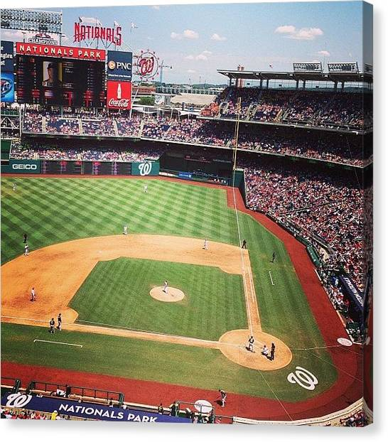 Washington Nationals Canvas Print - Www.kingsofsports.com #free by Alex Mamutin