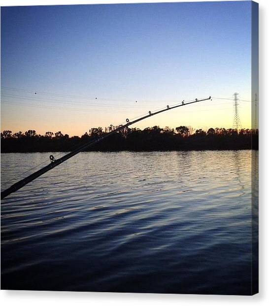 Fishing Poles Canvas Print - Napa River by Chelsea Renee